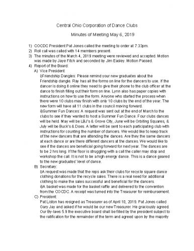 2019-05-06-Minutes